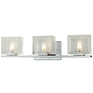 Jaol Chrome Three-Light Vanity Light