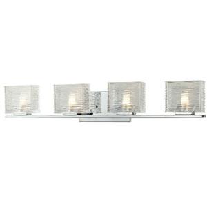 Jaol Chrome Four-Light LED Bath Vanity