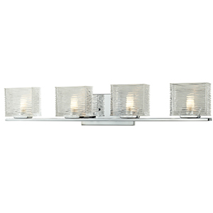 Jaol Chrome Four-Light Vanity Light