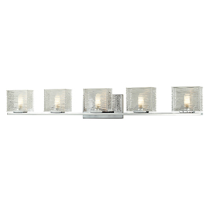 Jaol Chrome Five-Light Vanity Light