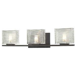 Jaol Bronze Three-Light LED Bath Vanity