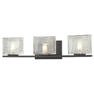 Jaol Bronze Three-Light Vanity Light