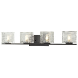 Jaol Bronze Four-Light LED Bath Vanity