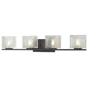 Jaol Bronze Four-Light Vanity Light