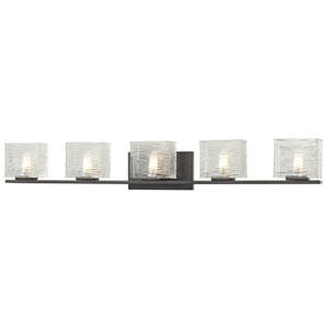 Jaol Bronze Five-Light LED Bath Vanity
