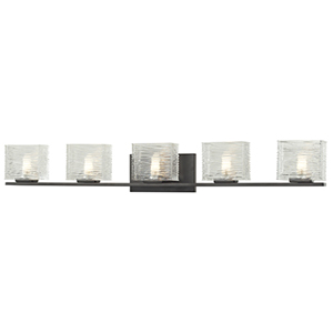 Jaol Bronze Five-Light Vanity Light