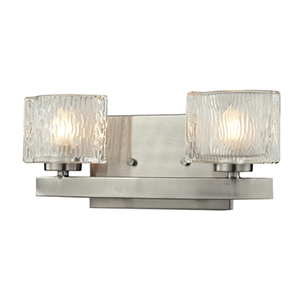 Rai Brushed Nickel Two-Light Vanity Light