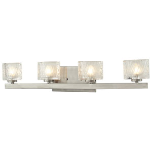 Rai Brushed Nickel Four-Light LED Bath Vanity