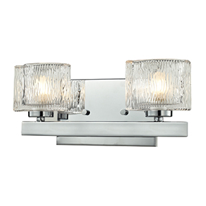 Rai Chrome Two-Light Vanity Light