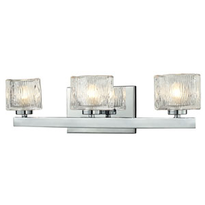 Rai Chrome Three-Light LED Bath Vanity