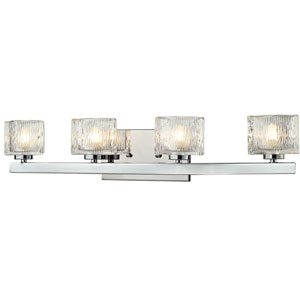 Rai Chrome Four-Light LED Bath Vanity