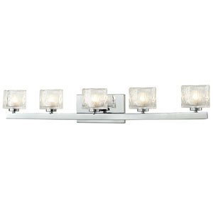 Rai Chrome Five-Light LED Bath Vanity