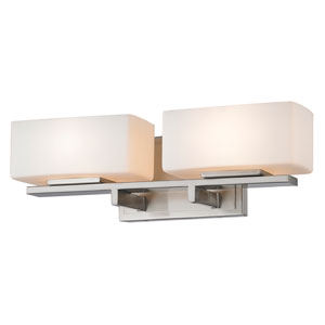 Kaleb Brushed Nickel Two-Light Vanity Fixture