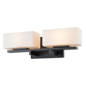 Kaleb Bronze Two-Light Vanity Fixture