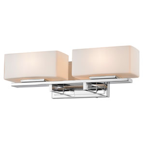 Kaleb Chrome Two-Light Vanity Fixture