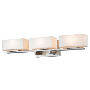 Kaleb Brushed Nickel Three-Light Vanity Fixture
