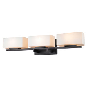 Kaleb Bronze Three-Light Vanity Fixture