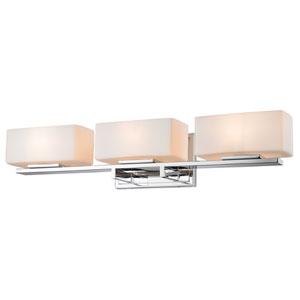 Kaleb Chrome Three-Light LED Bath Vanity