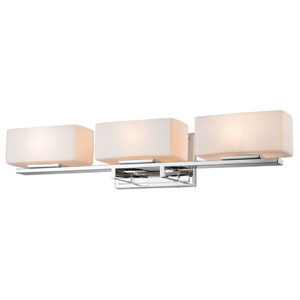 Kaleb Chrome Three-Light Vanity Fixture