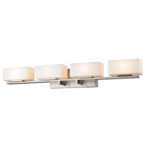 Kaleb Brushed Nickel Four-Light LED Bath Vanity