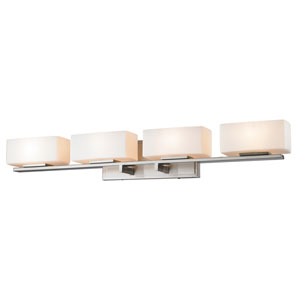 Kaleb Brushed Nickel Four-Light Vanity Fixture