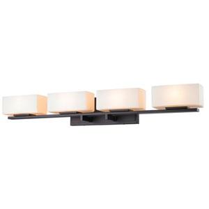 Kaleb Bronze Four-Light LED Bath Vanity