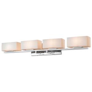 Kaleb Chrome Four-Light LED Bath Vanity