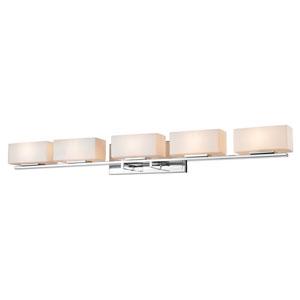 Kaleb Chrome Five-Light LED Bath Vanity