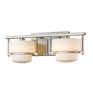 Porter Brushed Nickel Two-Light LED Bath Vanity