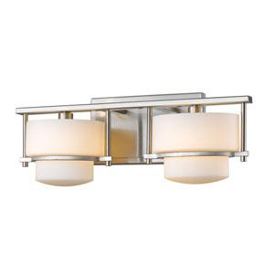 Porter Brushed Nickel Two-Light Vanity Fixture