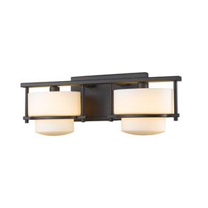 Porter Bronze Two-Light Vanity Fixture