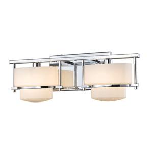 Porter Chrome Two-Light Vanity Fixture