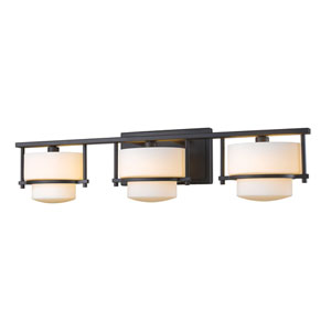 Porter Bronze Three-Light LED Bath Vanity