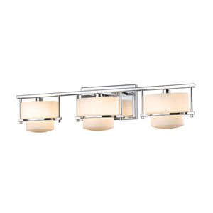 Porter Chrome Three-Light LED Bath Vanity
