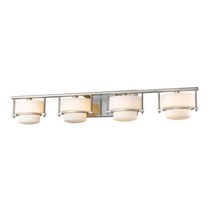 Porter Brushed Nickel Four-Light LED Bath Vanity