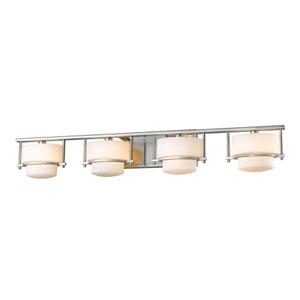 Porter Brushed Nickel Four-Light Vanity Fixture