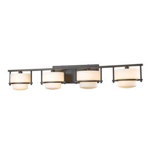 Porter Bronze Four-Light LED Bath Vanity