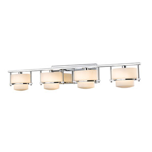 Porter Chrome Four-Light LED Bath Vanity