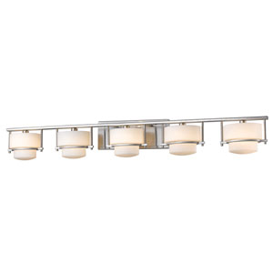 Porter Brushed Nickel Five-Light LED Bath Vanity