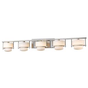Porter Brushed Nickel Five-Light Vanity Fixture
