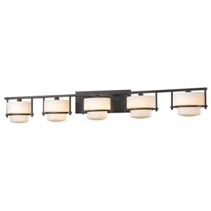 Porter Bronze Five-Light Vanity Fixture
