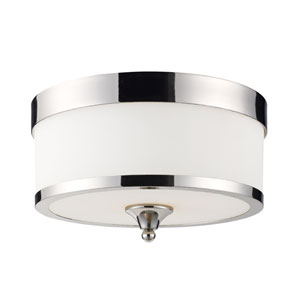 Cosmopolitan Chrome Three-Light Flush Mount