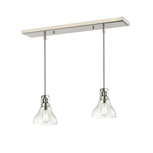 Forge Brushed Nickel One-Light Island Pendant