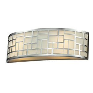 Elea Chrome Two-Light Vanity Light