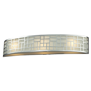 Elea Chrome Three-Light Vanity Light