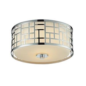 Elea Chrome Two-Light Flush Mount Light
