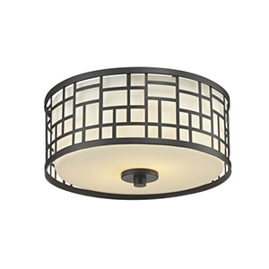 Elea Bronze Two-Light Flush Mount Light