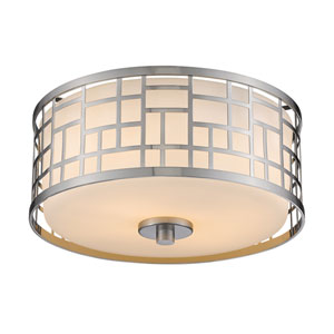 Elea Brushed Nickel Two-Light Flushmount