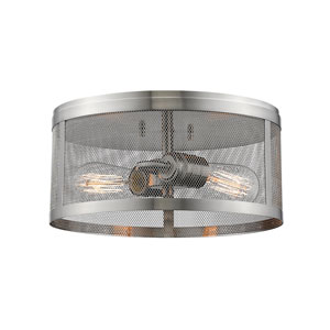 Meshsmith Brushed Nickel 12-Inch Two-Light Flush Mount