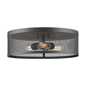 Meshsmith Bronze 18-Inch Three-Light Flush Mount